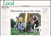 NJ Herald Donations Go to the Dogs